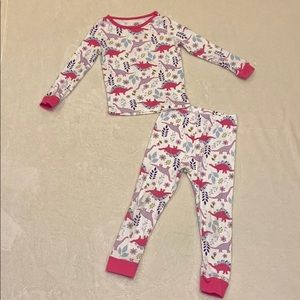 Wonder Nation Toddler Girl Dinosaur Pajama Set